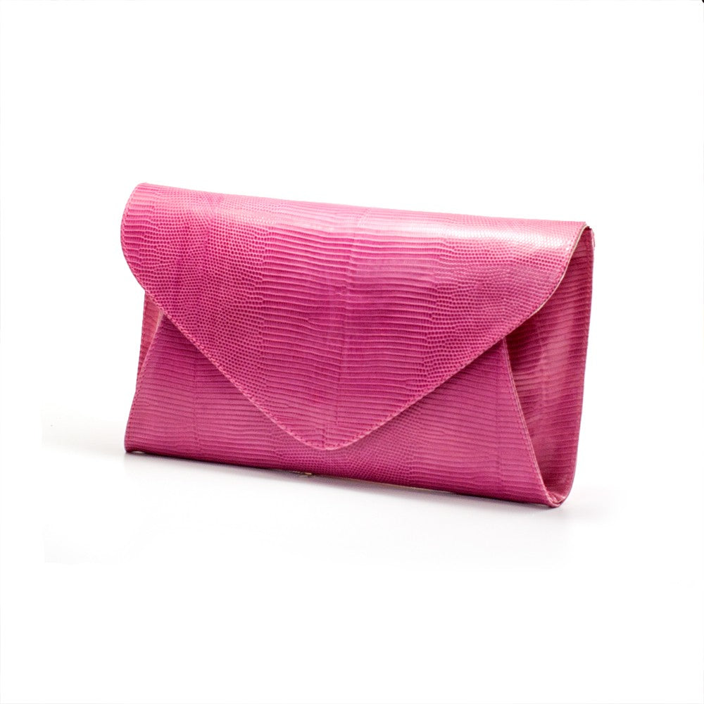 1d2b63e01e4a Women s genuine leather envelope purse in pink colour - NOVALUXSTYLE