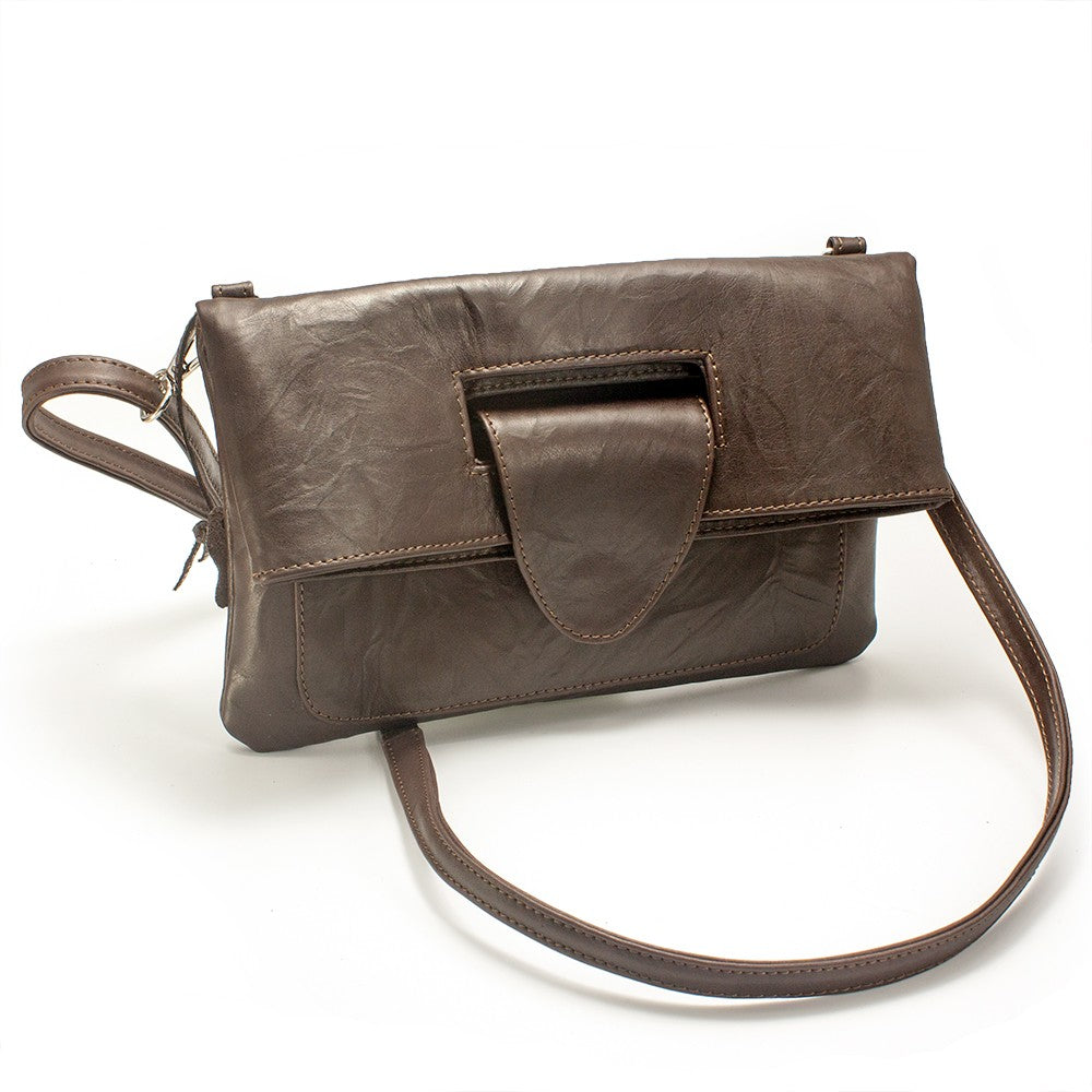 dda04b6c5461 Women s genuine leather envelope purse in brown colour - NOVALUXSTYLE