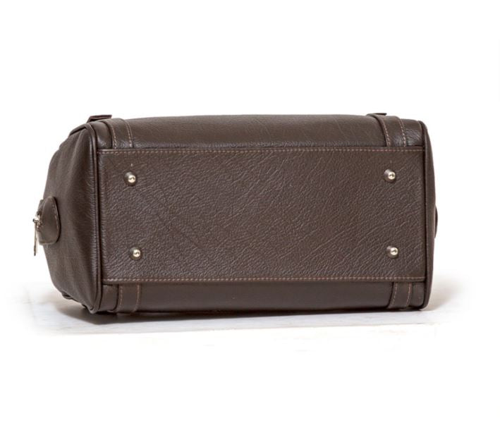 Women's genuine leather bag  in brown colour