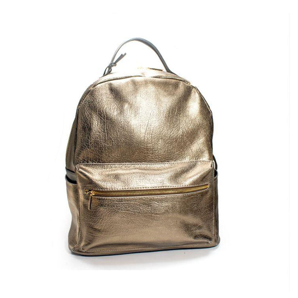 Woman Bags Novaluxstyle Women Genuine Leather Gold Womens Backpack In Colour