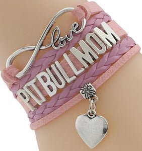 """Infinity Love"" Pitbull Mom Chain Bracelet (Pink)"