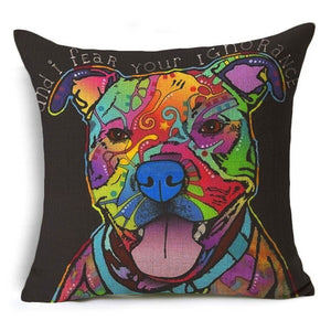 """Smiles"" Pitbull Decorative Pillow"