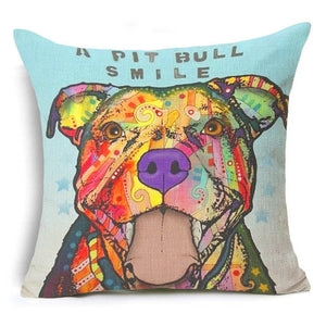 """A Pitbull Smile"" Decorative Pillow"