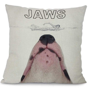 """Baws"" Bull Terrier Decorative Pillow"