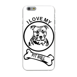 """I Love My Pitbull"" Iphone Case (Multi)"