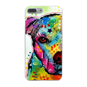 Pitbull Graphic Art Iphone Case (Multi)