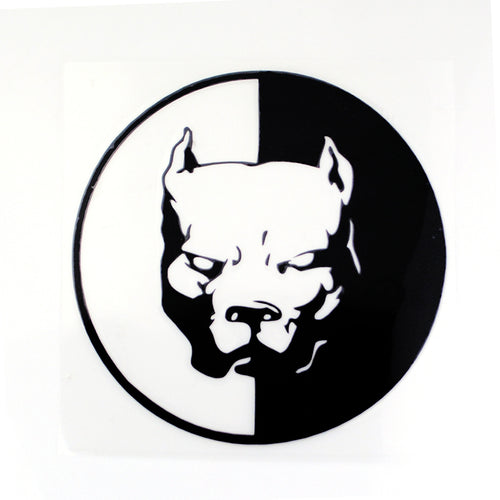 Pitbull Decal (12cm Diameter)