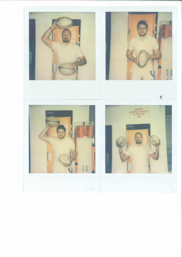 JEFF & CHARLIE - 320mm × 400mm - Framed 4 x Original Polaroids