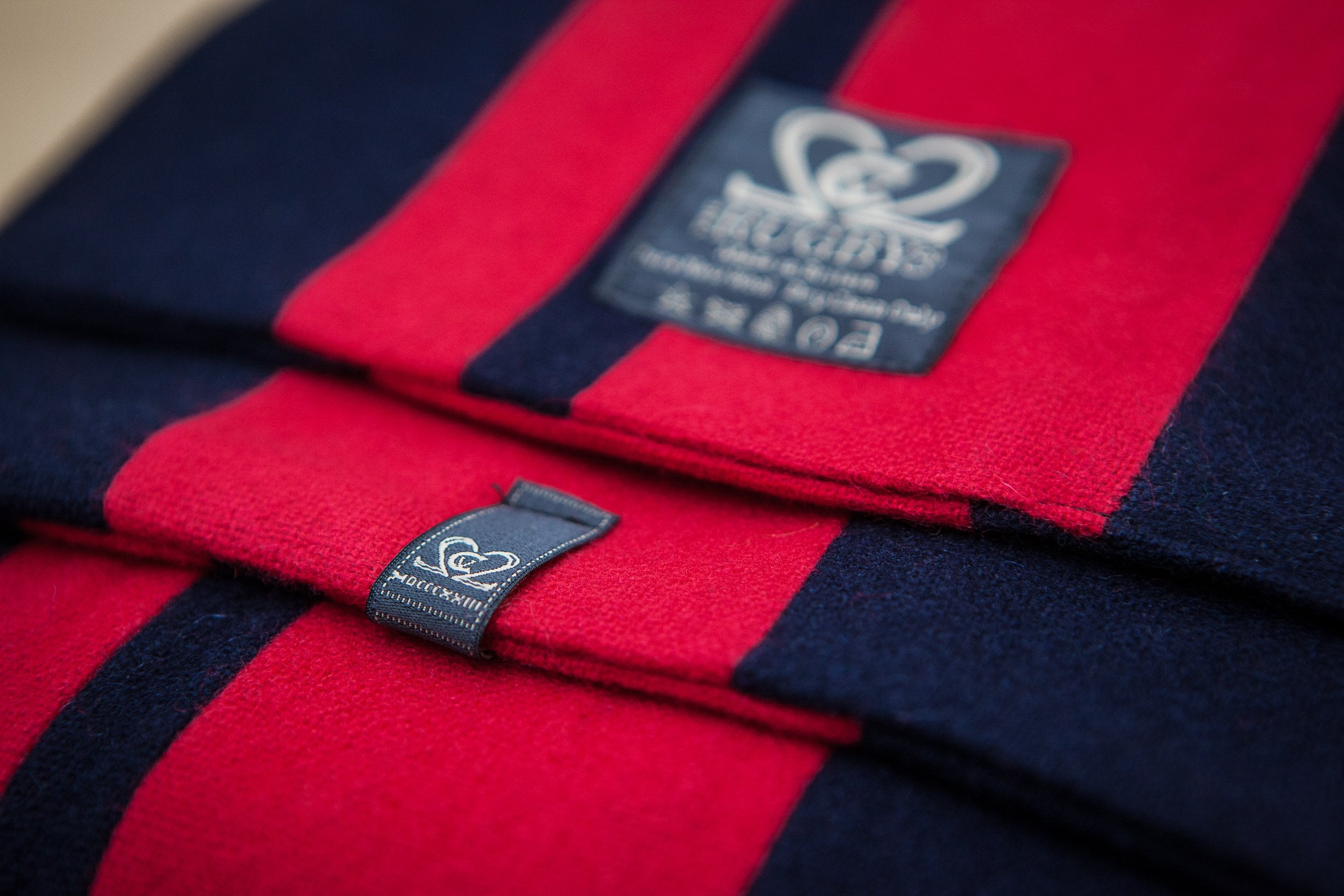 Navy & Red College Scarf