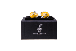 Enamelled Silver Cufflinks Yellow