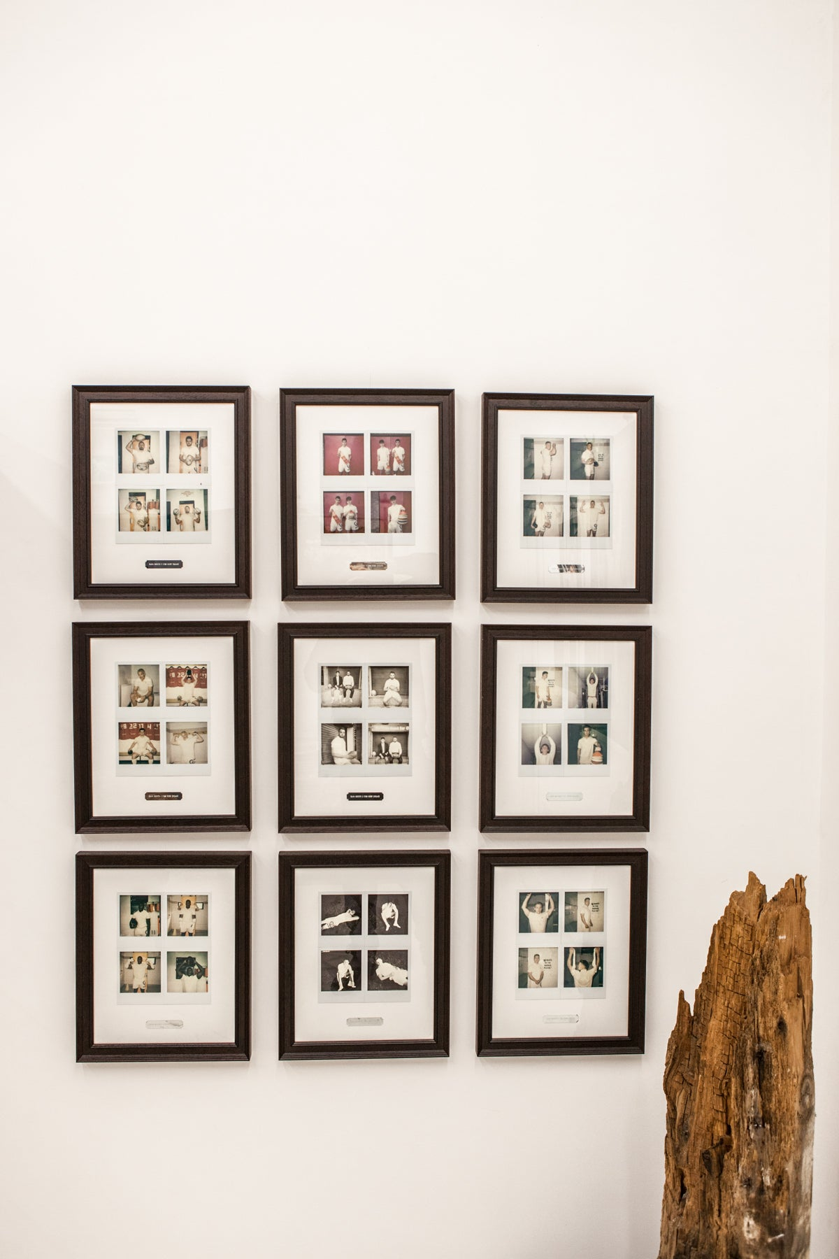BEN - 320mm × 400mm - Framed 4 x Original Polaroids