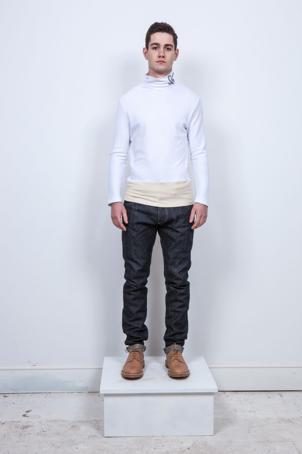 The Newton A Fine Interlock Cotton Roll-Neck
