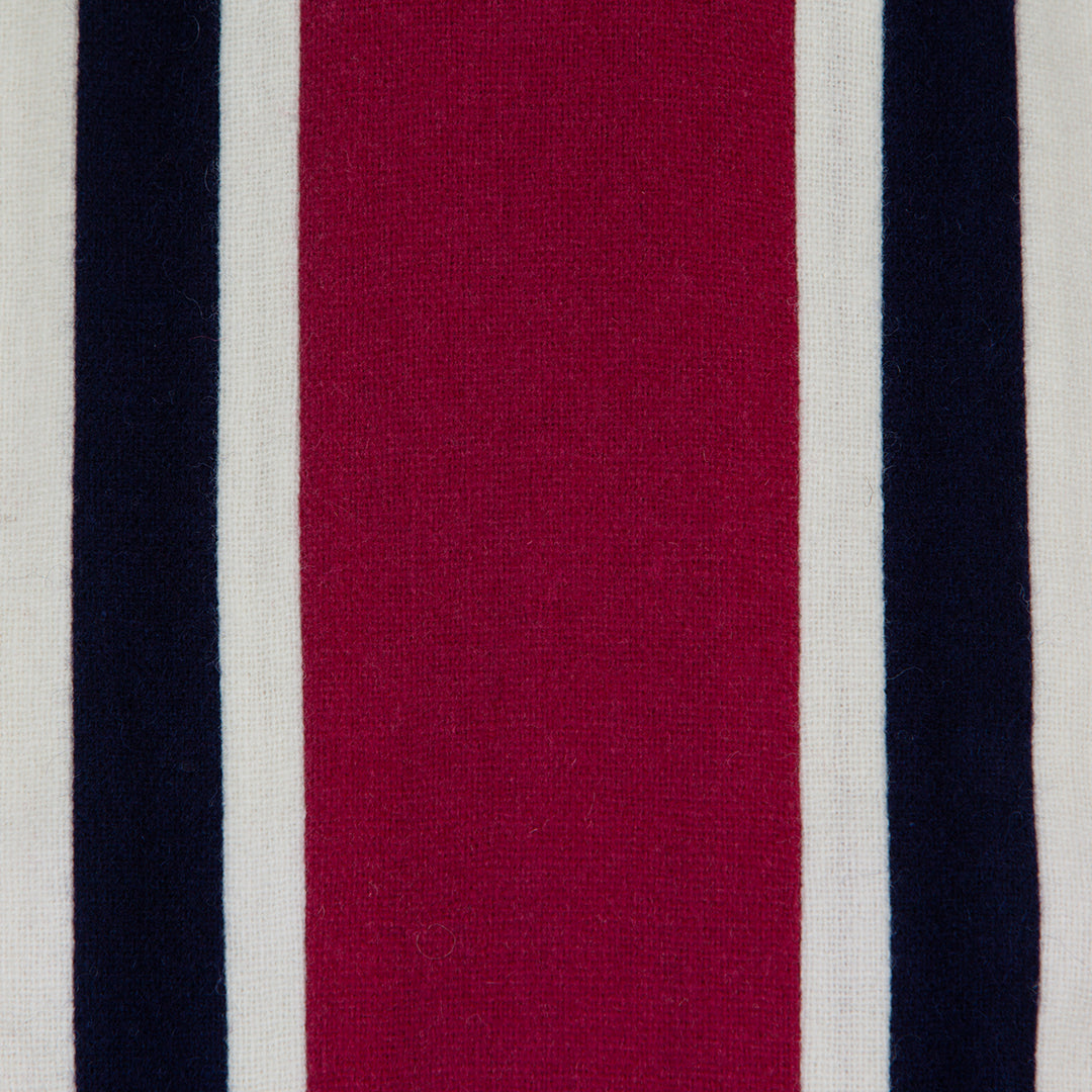 Navy, Magenta & White College Scarf