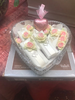 Valentine Chocolate Filld Heart-Shaped Crystal Plate