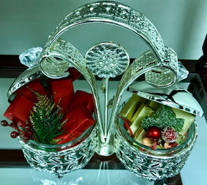 Double Silver Plated Sugar Bowl