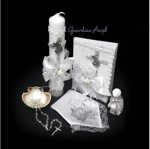 Baptism Gift Set- Guardian Angel - Silver (SPANISH)