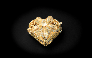 Heart Shaped Box with Coins- Gold