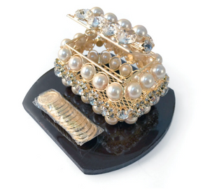 Rhinestone and Pearl Gift Box with Coins