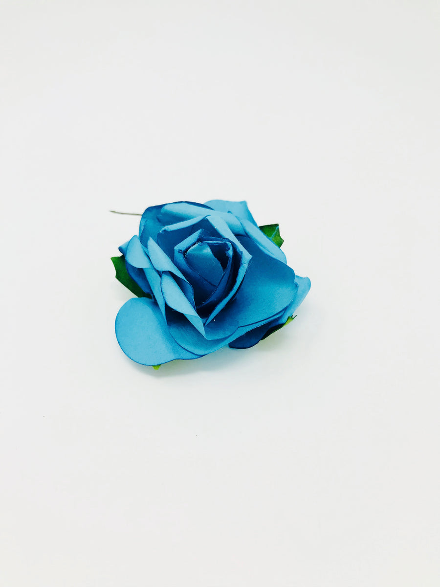 Handcrafted Paper Flower- Blue