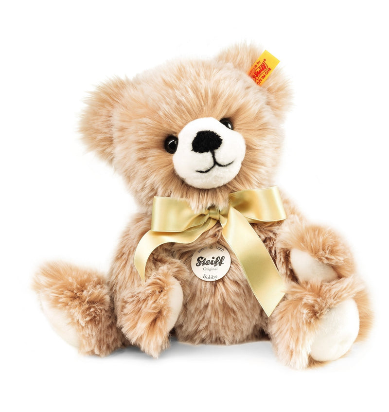 Steiff Bobby Dangling Teddy Bear Brown Tipped