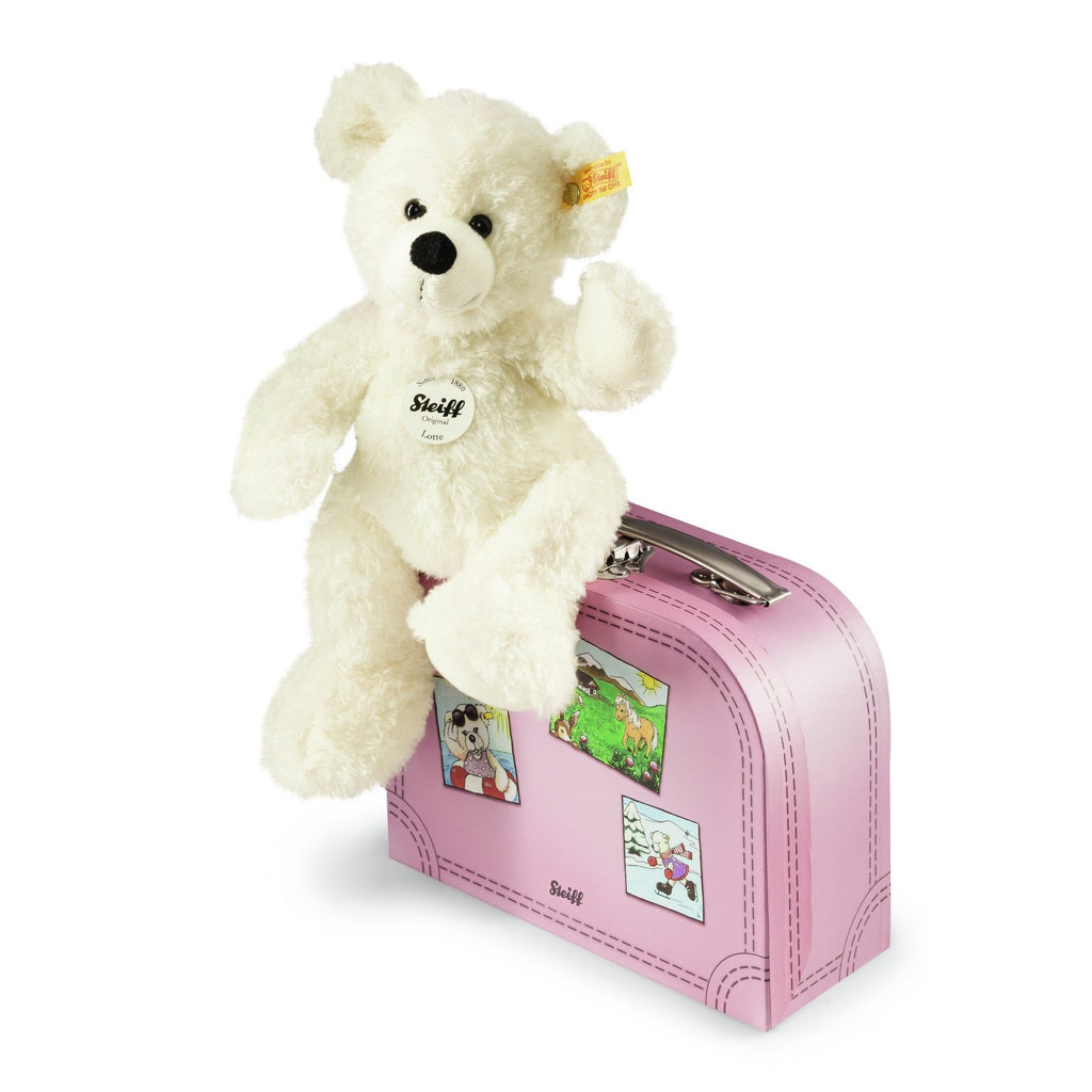 Steiff Lotte Teddy Bear in Suitcase (pink)