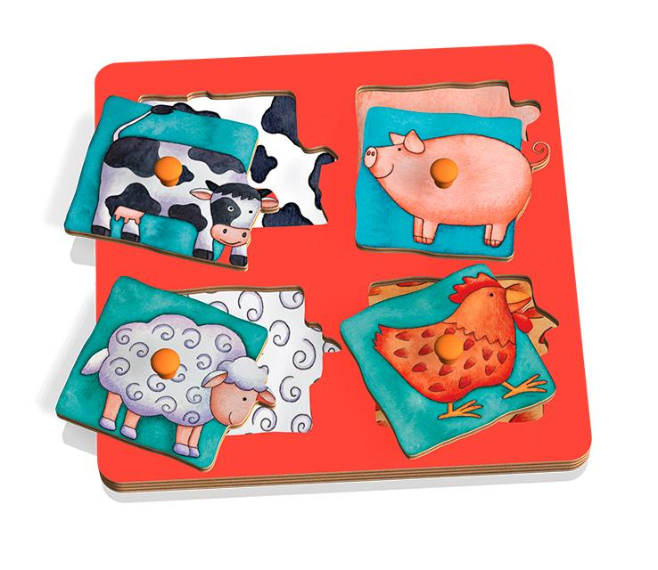 Weizenkorn Grip Puzzle Farm Animals