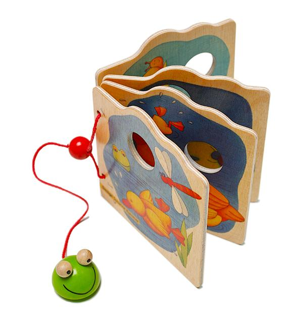 Weizenkorn Wooden Picture Book Frog