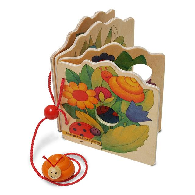 Weizenkorn Wooden Picture Book Slug