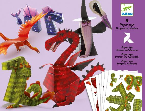 Djeco Paper Toys - Dragons And Chimeras - Da Da Kinder Store Singapore