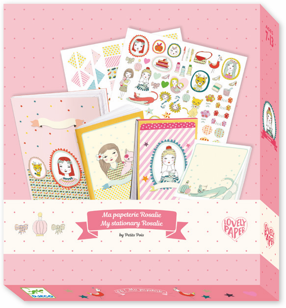 Djeco Stationery Set - Rosalie - Da Da Kinder Store Singapore