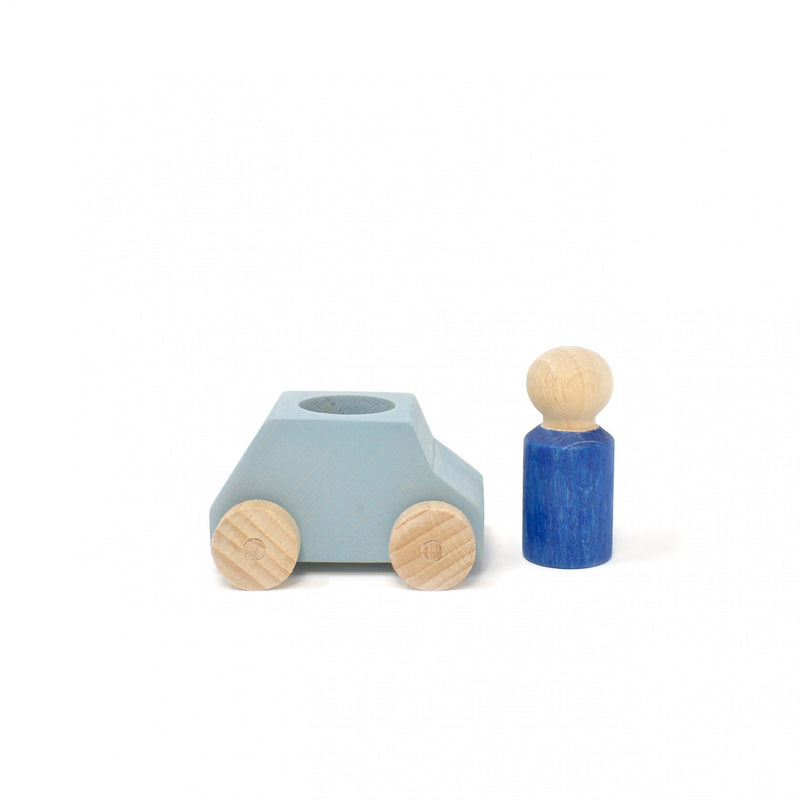 lubu lona Grey Wooden Toy Car