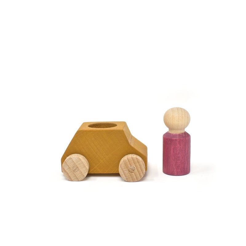 lubu lona Ochre Wooden Toy Car