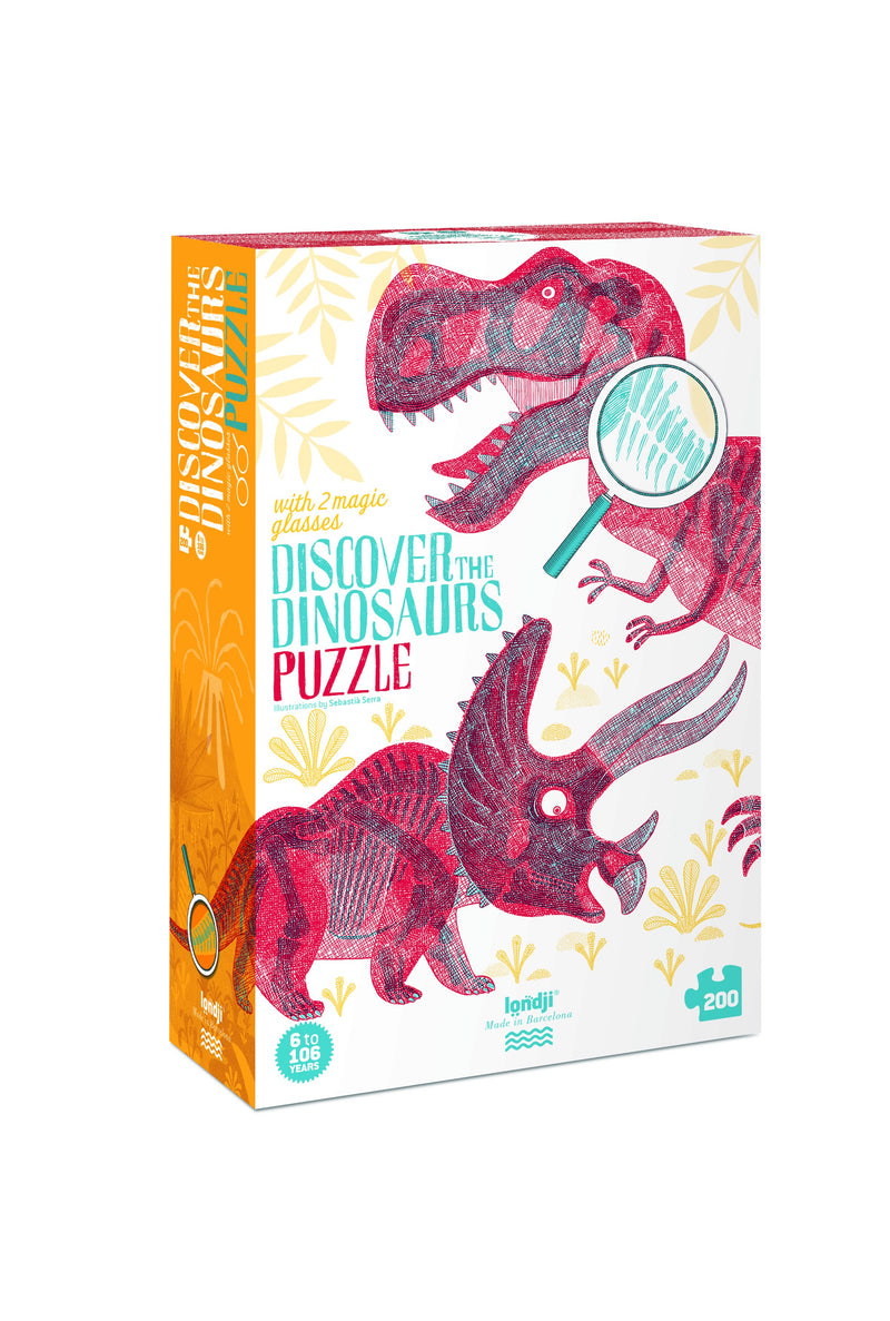 londji Puzzle Discover the Dinosaurs