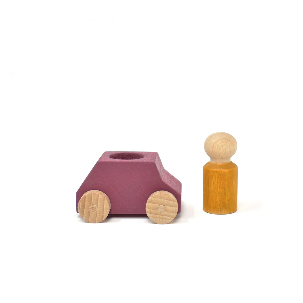 lubu lona Plum Wooden Toy Car