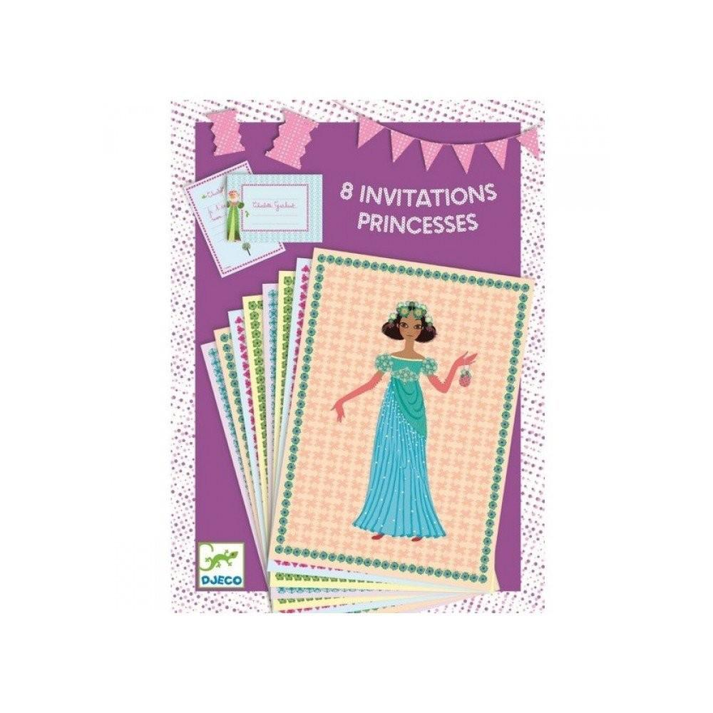 Djeco Invitation Anniversaire - Princesses  Invitation - Da Da Kinder Store Singapore