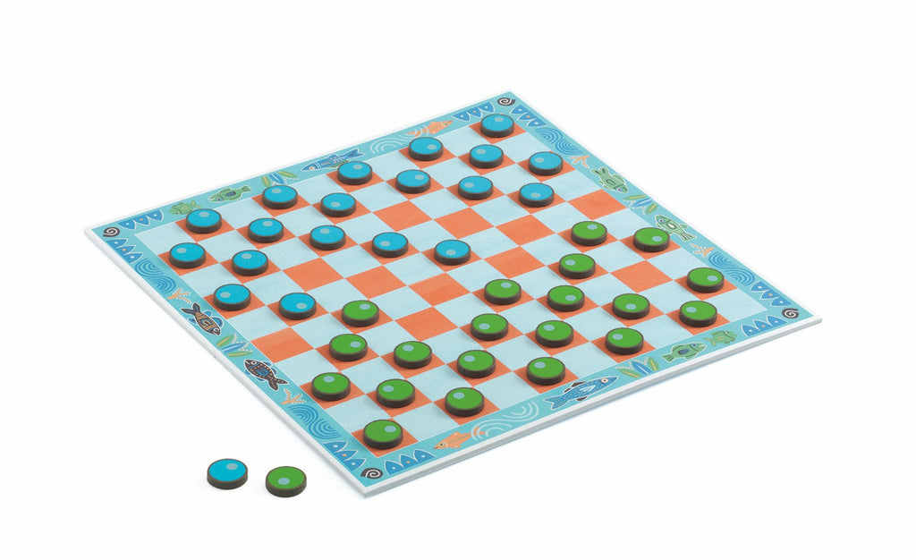 Djeco Classic Game - Draughts - Da Da Kinder Store Singapore