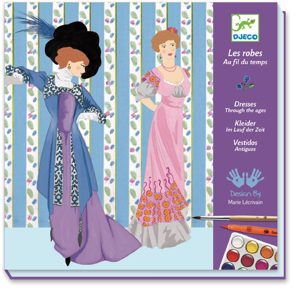 Djeco Feutres Pinceaux - Dresses Through The Ages - Da Da Kinder Store Singapore