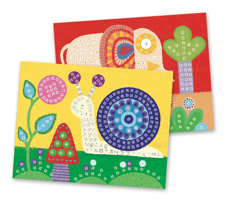 Djeco Mosaics - Elephant And Snail - Da Da Kinder Store Singapore