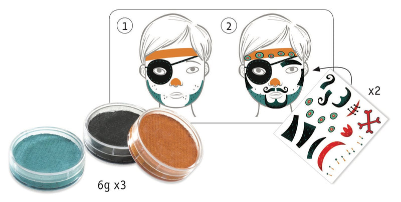 Djeco Make-Up Sets - Pirate - Da Da Kinder Store Singapore