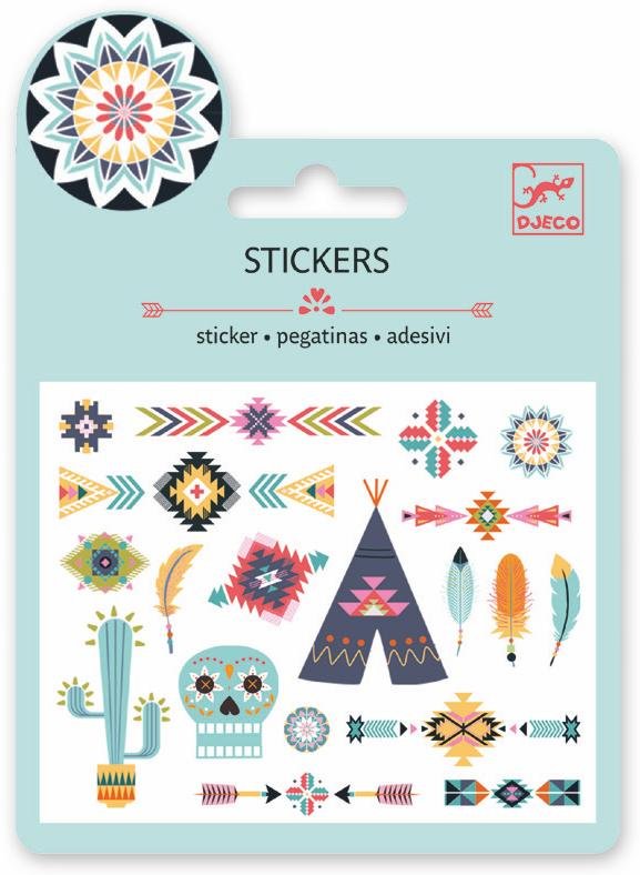Djeco Mini Sticker - Western Style - Da Da Kinder Store Singapore