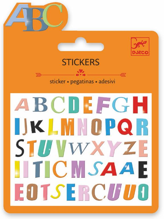 Djeco Mini Sticker - Lettres Colorees - Da Da Kinder Store Singapore