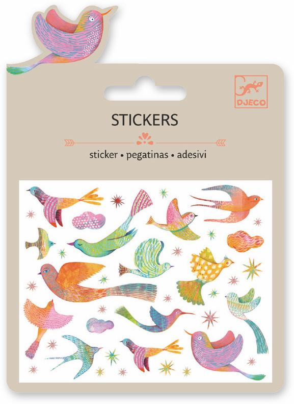 Djeco Mini Sticker - Birds Of Paradise - Da Da Kinder Store Singapore