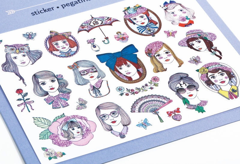 Djeco Mini Sticker - Portraits - Da Da Kinder Store Singapore