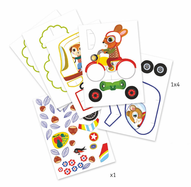 Djeco Mini Totems A Colour - Vroom Vroom - Da Da Kinder Store Singapore