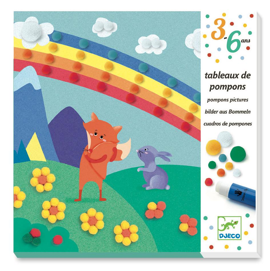 Djeco Pom Pom Collages - Sweet Nature - Da Da Kinder Store Singapore