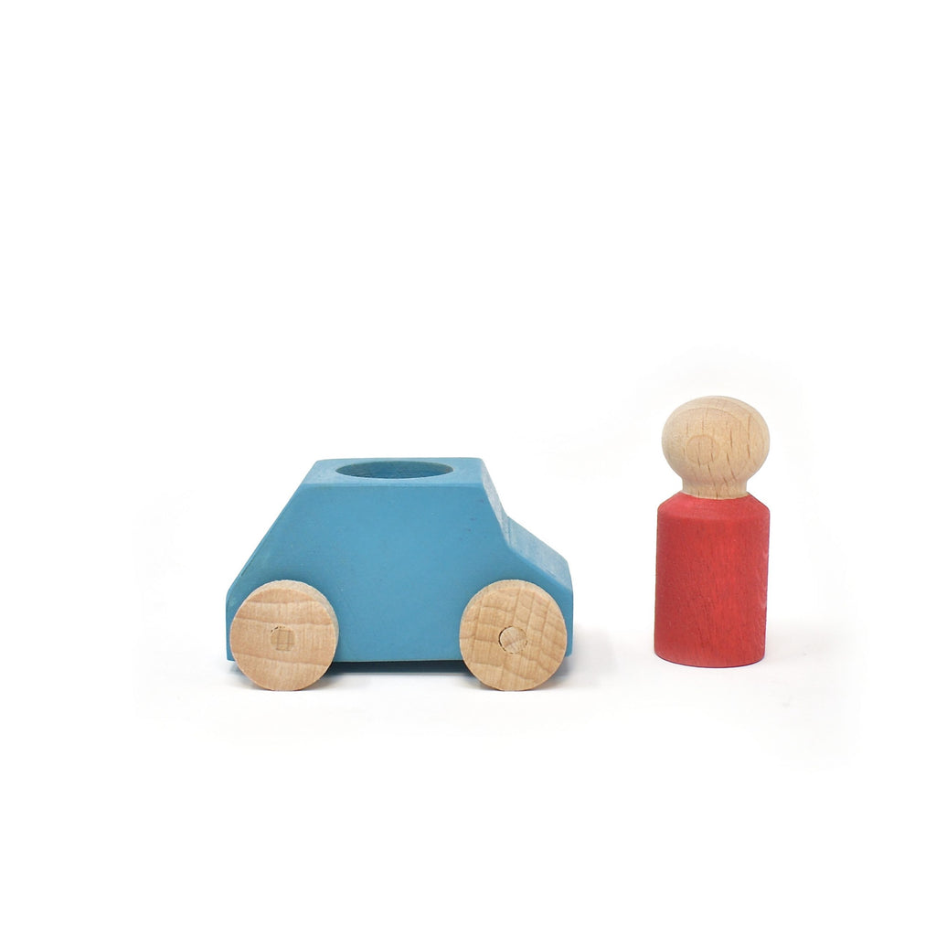 lubu lona Sky Blue Wooden Toy Car