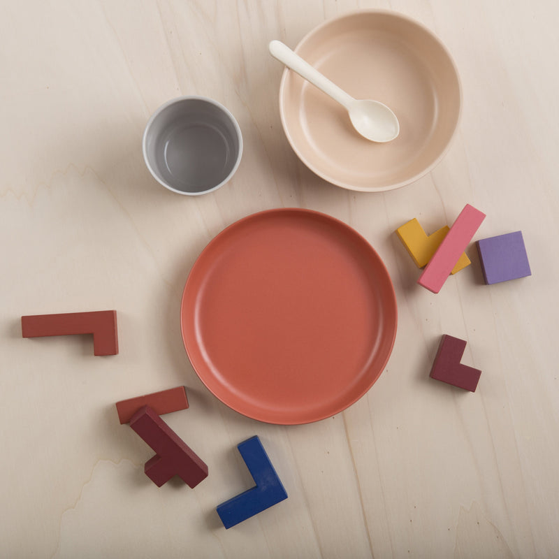 EKOBO Bambino Kid Set N°5, Cloud / Blush / Terracotta - Da Da Kinder Store Singapore