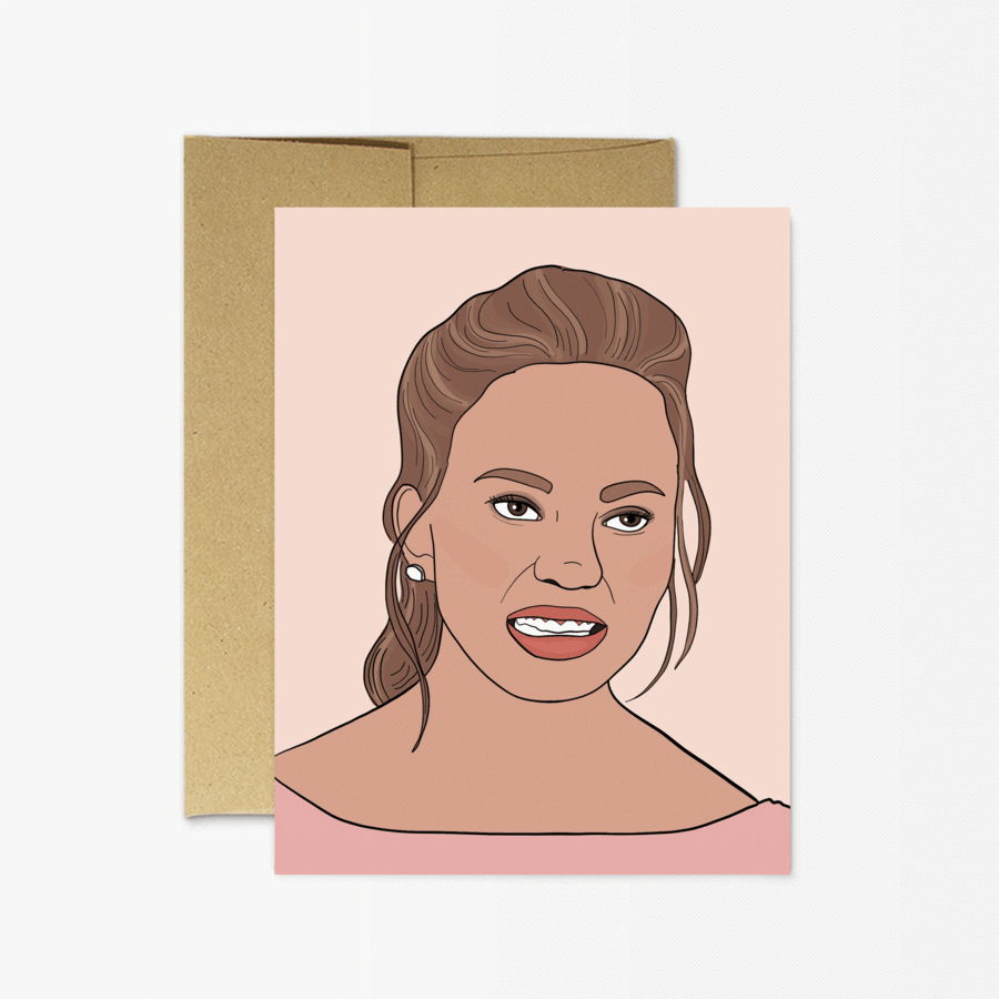 Chrissy Teigen. Party Mountain greeting card
