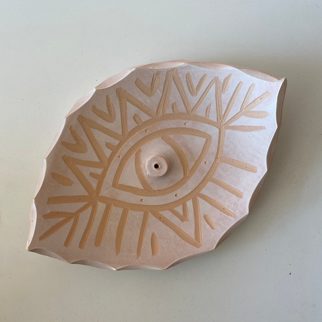 Ceramic Eye Incense Holder