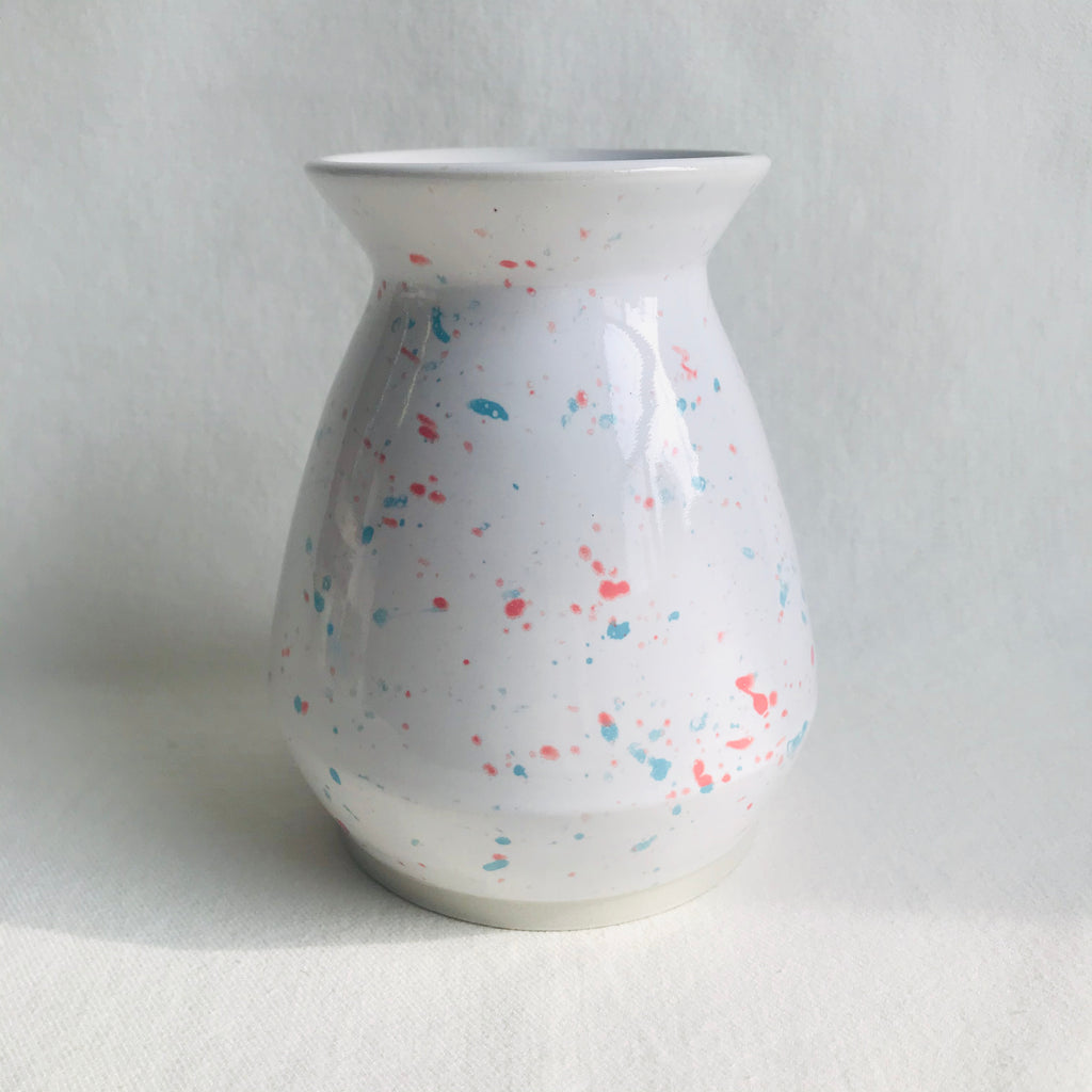 Birthday Cake Speckled Flower Vase